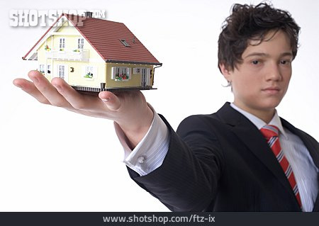 Young Man, House, Artificial Model, Savings, Real Estate
