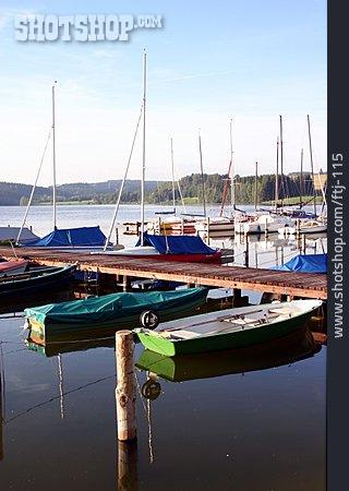 Sailboat, Rowing, Jetty