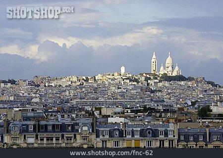 Paris, Montmartre, Sacre Coeur, Montmartre Hill