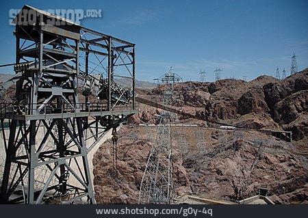 Industrial Landscape, Rocks, Electricity Pylon