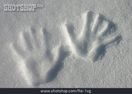Hand Print, Snow Sculpture