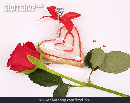 Rose, Heart, Pastries
