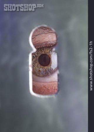 Curiosity & Expectation, Eye, Keyhole