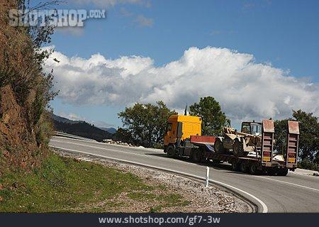 Transport & Traffic, Truck, Curve