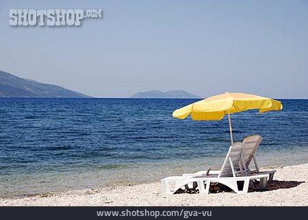 Parasol, Beach Lounger, Albanian Riviera