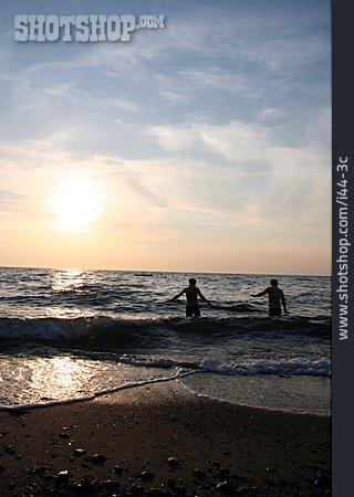 Sunset, Beach, Sea