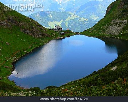 Mountain Range, Mountain Lake, European Alps