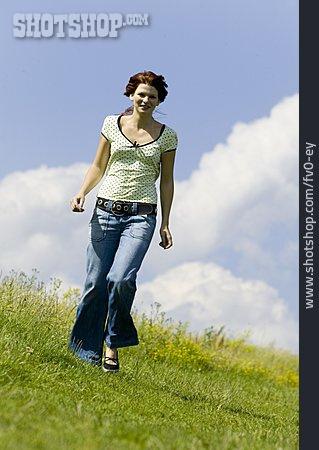 Young Woman, Woman, Walk
