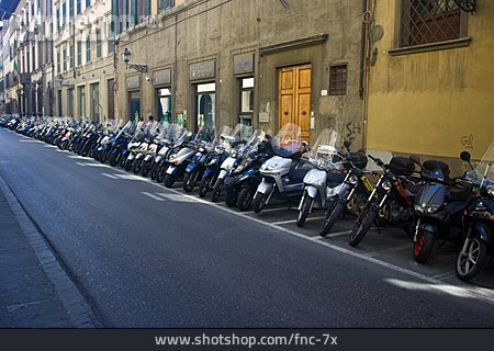 Parking, Italy, Scooters