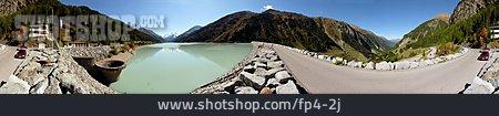 Mountain Range, Reservoir, Kaunertal, Gepatsch