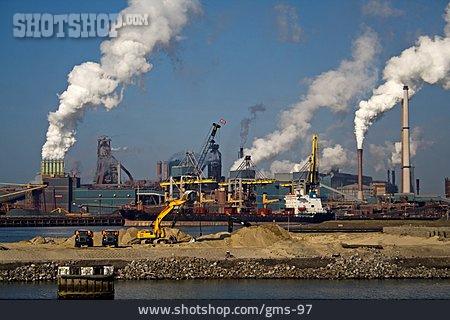 Industry, Industrial Landscape, Blast, Steel Mill, Ijmuiden