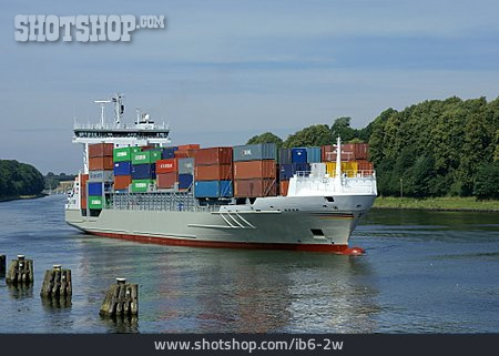 Canal, Container Ship