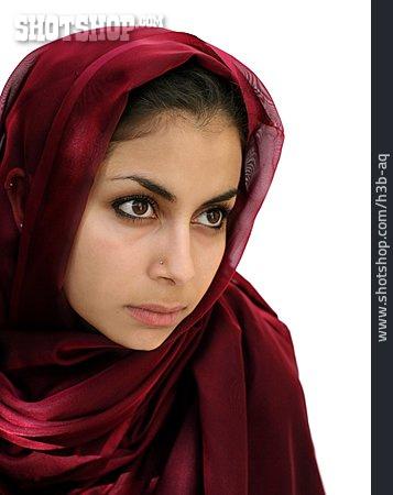 Young Woman, Woman, Headscarf, Muslim