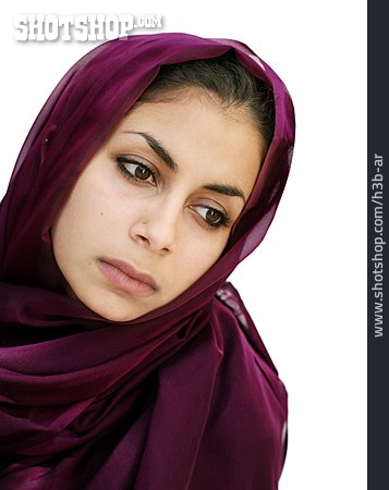 Young Woman, Woman, Headscarf, Muslim