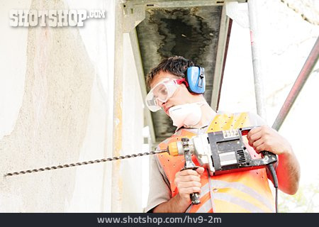 Construction Worker, Drilling