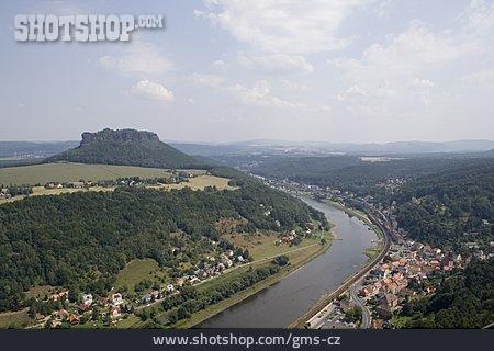 Saxon Switzerland, Elbe Sandstone Mountains, Lilienstein