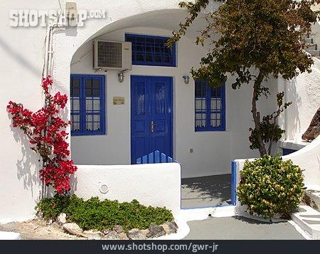 Greece, Santorini, House Entrance