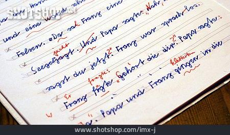 School, Education, Correction, School Mistake, School Essay