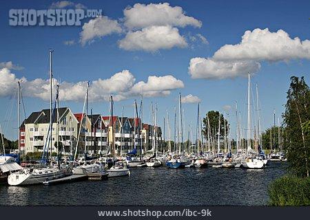 Lake, Harbour, Sailboat