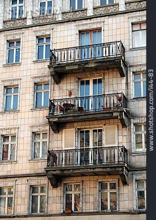 House, Balcony, Old House
