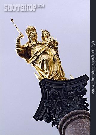 Statue, Marie Pillar, Madonna
