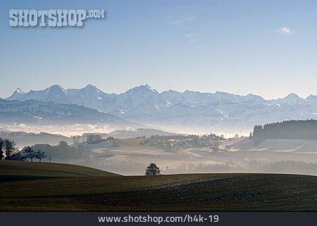 Landscape, Bernese Alps, Gurten