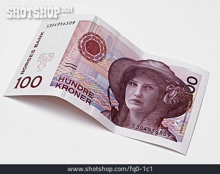 Currency, One Hundred Crowns, Norwegian Krone