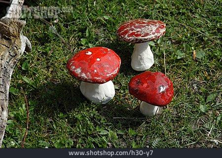 Mushroom, Fly Agaric, Garden Decoration