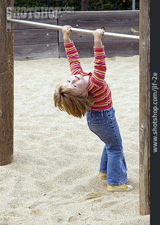 Girl, Gymnastics, Playground, High Bar