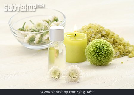 Wellness & Relax, Massage Oil, Bath Salt, Chrysanthemum