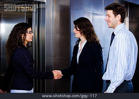 Businessman, Handshake, Business Woman