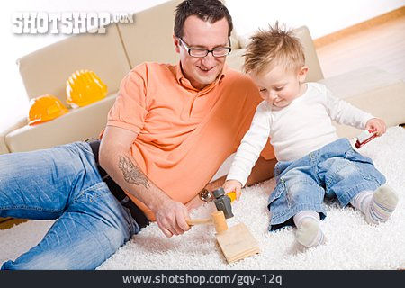 Father, Fun & Games, Son, Hammering