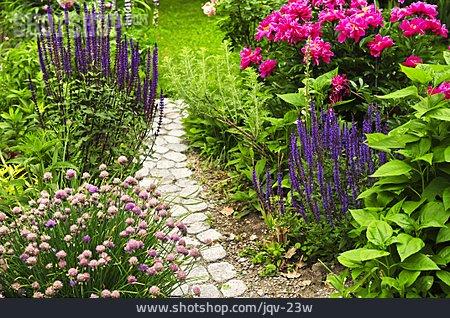 Flower Bed, Garden Path