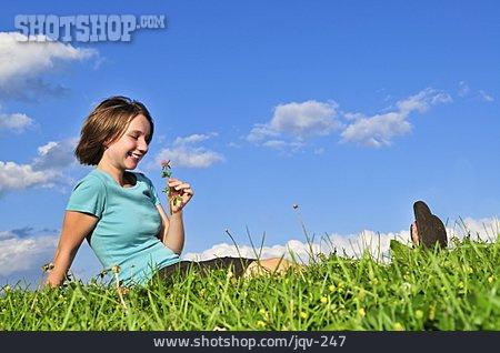 Teenager, Flower Meadow