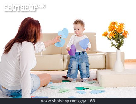 Mother, Handicrafts, Son