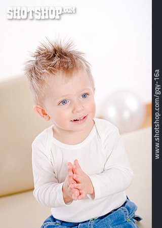 Toddler, Boy, Clapping
