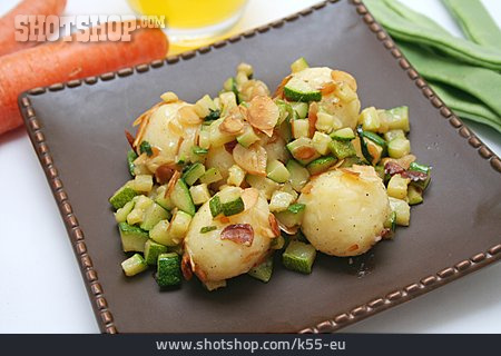 Fried Potatoes, Potato Dumpling
