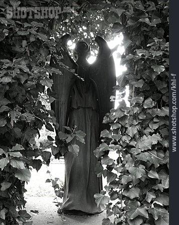 Hope & Religion, Angel, Statue, Ivy