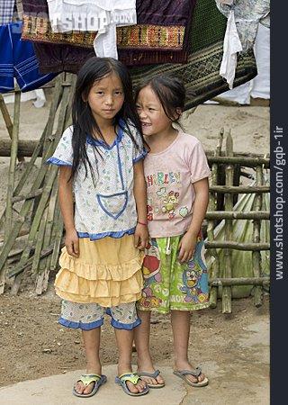 Girl, Girlfriend, Laos, Miao