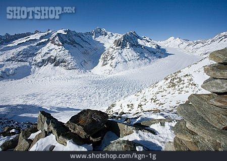 Mountain Range, Aletsch Glacier
