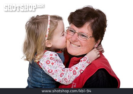 Grandmother, Kiss, Granddaughter