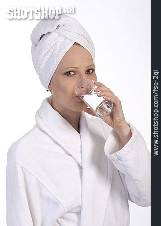 Young Woman, Drinking, Thirsty, Water