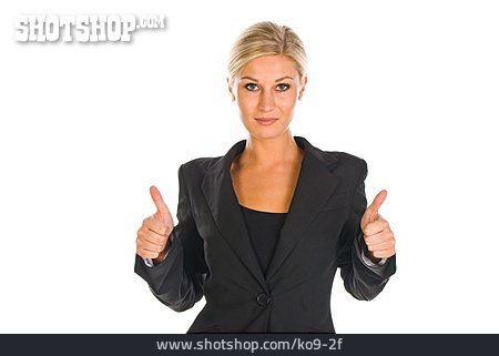 Thumbs Up, Consent, Business Woman