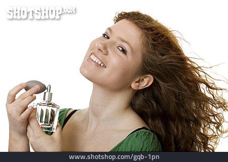 Beauty & Cosmetics, Young Woman, Perfume, Atomizer