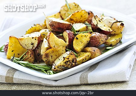 Baked Potato, Prepared Potato, Rosemary Potatoes, Potato Wedges