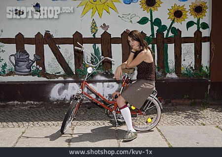 Young Woman, Cool, Summer, Cyclist