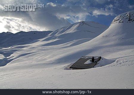 Winter Landscape, Mountain Lodge