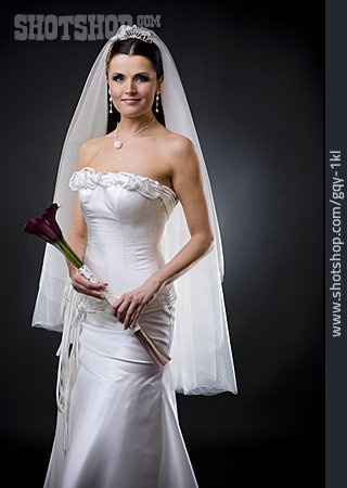 Young Woman, Wedding, Bride, Wedding Dress