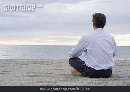 Man, Meditating, Yoga