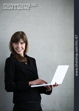 Mobile Communication, Laptop, Wlan, Business Woman